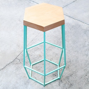 Timber & Ore Barstools: Kitchens Chairs, Ore Barstool, Timber Ore, Timber Stools, Geometric Design, Bar Stools, Furniture, Counter Stools, Chairs Design