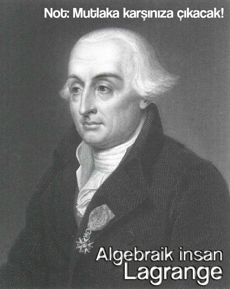 Algebraic person, Joseph-Louis Lagrange.  P. S. You will surely encounter him.