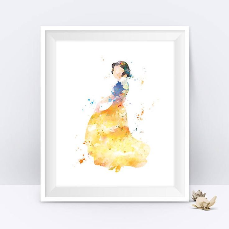 Snow White Print Princess Poster Watercolor Poster