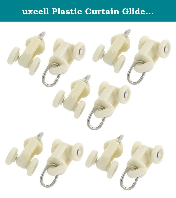 uxcell Plastic Curtain Glider Track Carrier Roller 10mm Dia Wheel 10pcs Beige. 1.These rollers are made of plastic material, you will never worry about blemishing your beautiful curtain. 2.High quality and widely used in home, hospital, office, restaurant, hotel, etc.