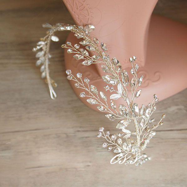 Antique Silver Crystal de la venda de boda Vintage Floral celada accesorios para el cabello en Joyas para Cabello de Joyas y accesorios en AliExpress.com | Alibaba Group