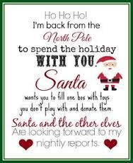 elf on the shelf first day letter - Google Search