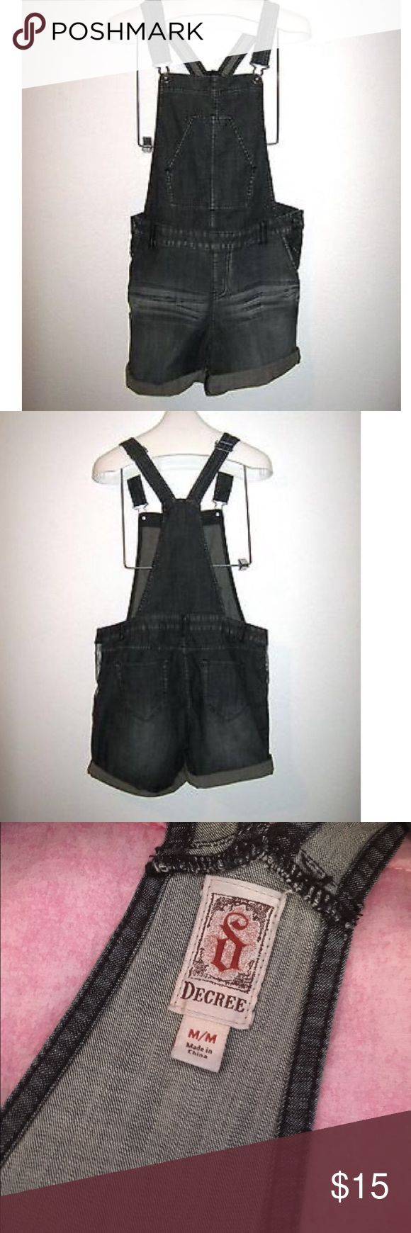 Decree Gray Jean Jumper Gray Jean Jumper/Romper. Appears slightly darker in the pictures than it actually is. Great condition Decree Pants Jumpsuits & Rompers