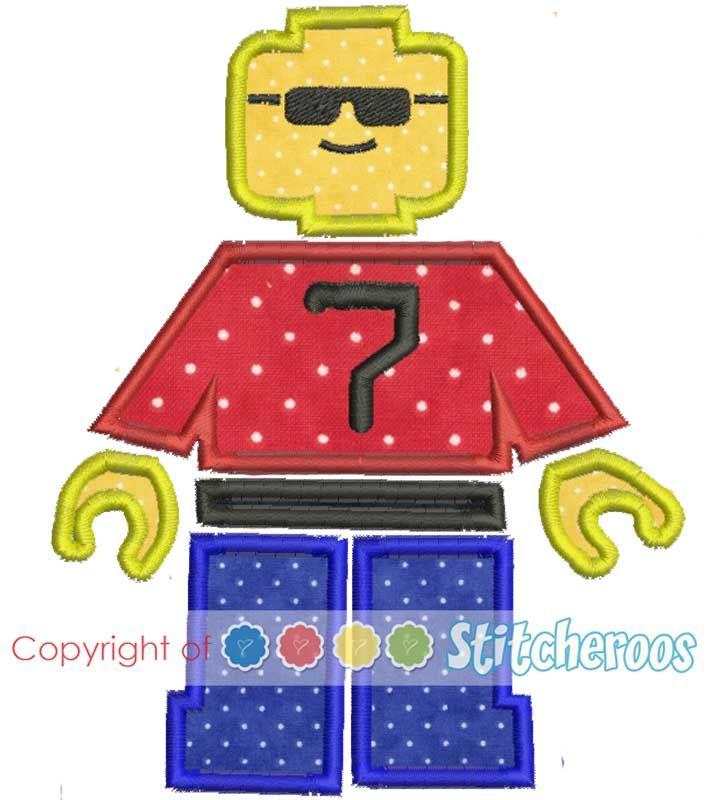 26 best Lego Applique' Designs images on Pinterest   Appliques ...