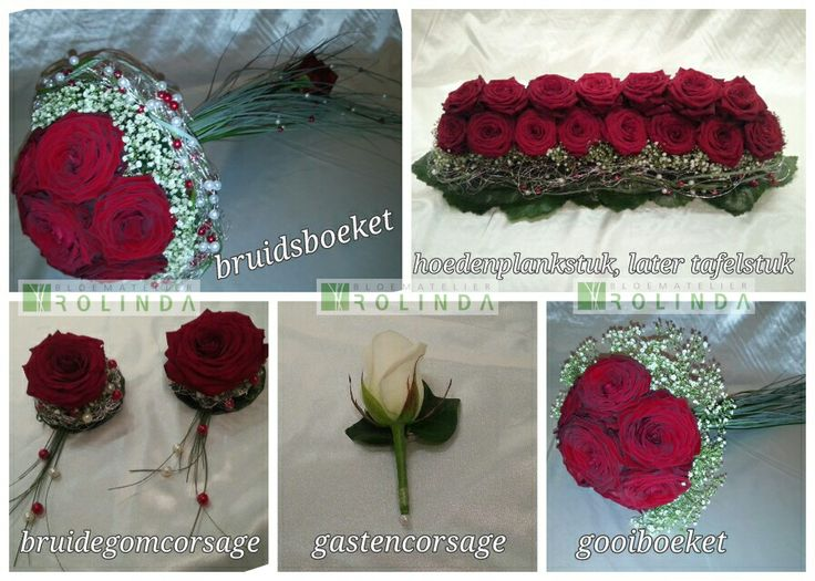 Bruidswerk Red Naomi rozen Bloematelier Rolinda