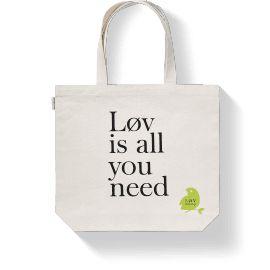 """Løv is all you need"" tote bag"