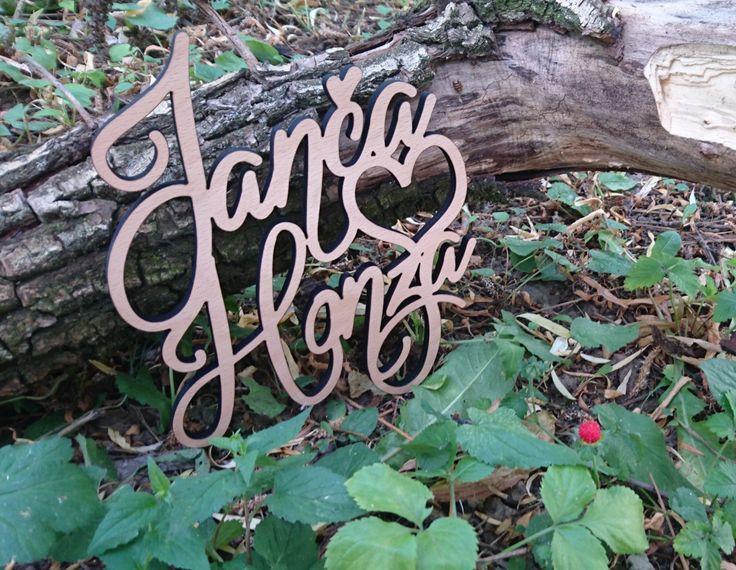 Dvě jména na míru ( kolaudace, svatby, oslavy ), ... Zadejte vlastní jména - Svatební dekorace