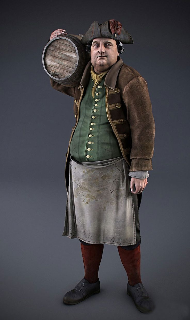 "m Merchant Inn keeper w cask of brandy ""Assassin's Creed 3"" 2012 Action Adventure Game, Oliver"