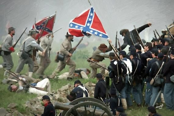 3d Metal Art Pickett S Charge And American Civil War Gettysbug July 3 1863 11 X 14 Inches Metal Wall Art Civil War American History Timeline Civil War Photos