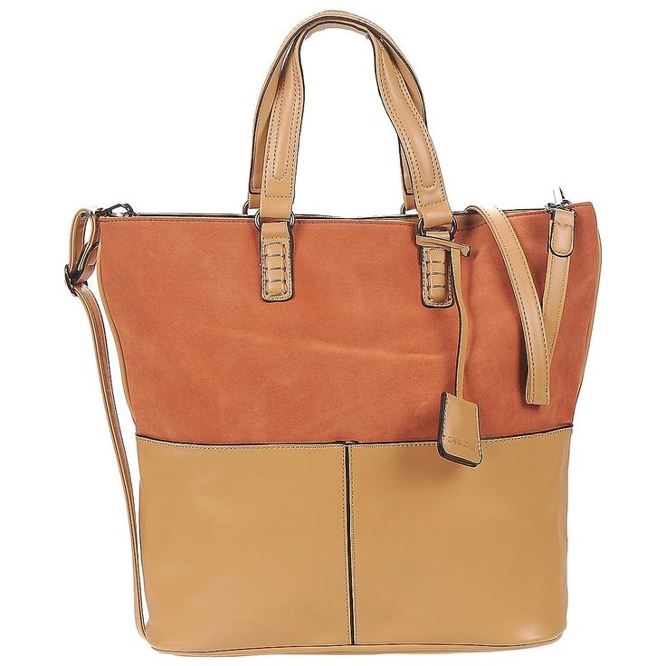 Cabas / Sac shopping David Jones KARISMA Beige / Orange - Livraison Gratuite avec Spartoo.com ! - Sac Femme 34,99 €