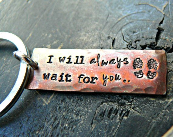 Army Boot Print Keychain  Military Wife by yourcharmedlife on Etsy