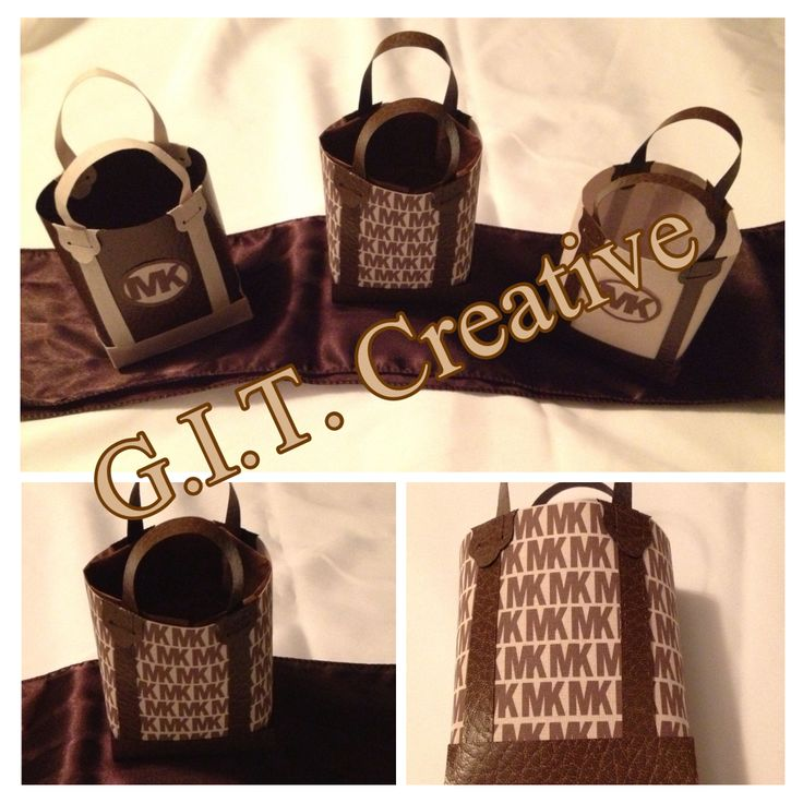 Michael Kors Inspired Favor Bags Party Ideas Pinterest