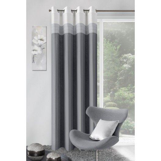 Moderný sivý záves do okna