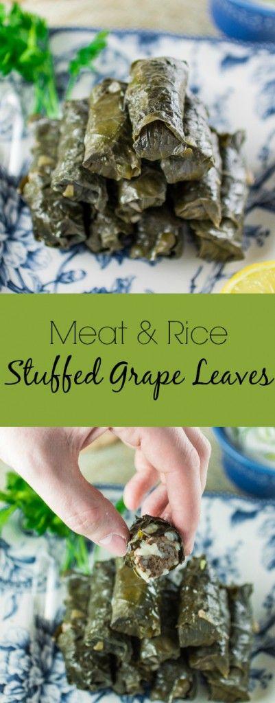 Meat & Rice Stuffed Grape Leaves | www.oliviascuisine.com