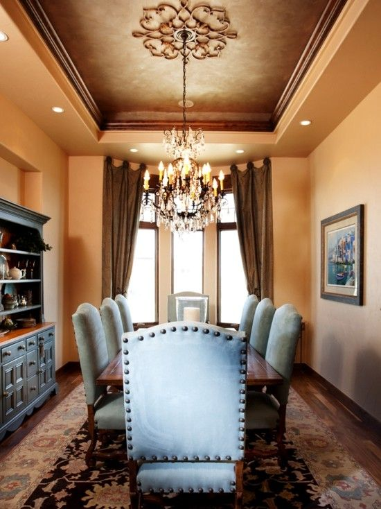 17 best ideas about painted tray ceilings on pinterest for Elegant dining room ideas