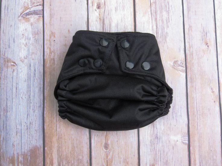 Black Pocket Diaper- Gender Neutral Cloth Diaper -Microfleece Snap- Eco-friendly Reusable Cloth Diaper-Ready to Ship by TheClothOnes on Etsy