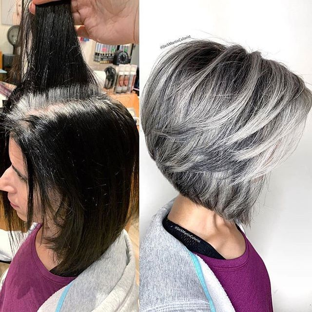 Changing Hairstyle May Really Save You For A Lifetime Don T You Believe It Look At It Page Blending Gray Hair Gray Hair Highlights Grey Hair Transformation