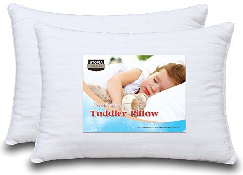 Dreamy Baby Pillow - Two Toddler Pillow Bundle, 100% Cotton Cover, Delicate, with Hypoallergenic Filling, For Boys