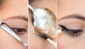Use a spoon! This might seem like a crazy tip, but it seems to work. I've seen this kind of trick before with a credit card, but the curved edge of a spoon is a good way to work on your perfect flick. It all depends whether you can face the thought of pulling a spoon out of the cutlery drawer any time you want to do your eyeliner, though. - See more at: http://www.careergirldaily.com/how-to-apply-flawless-eyeliner/#sthash.XlFGrXEi.dpuf