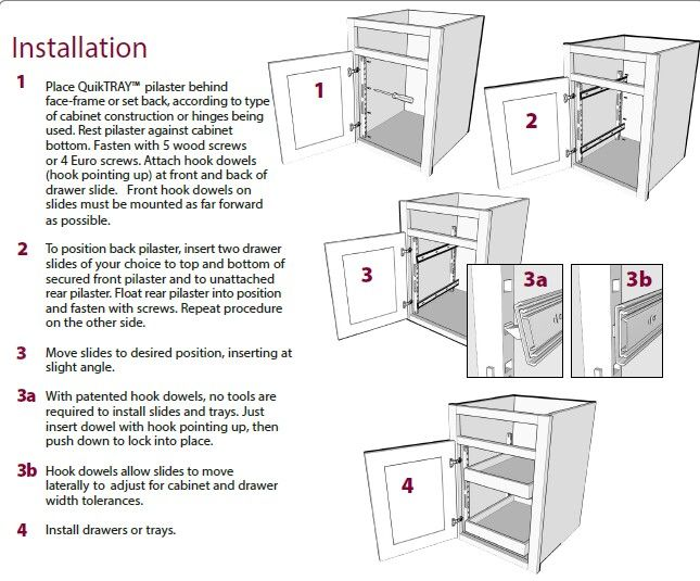 1 Quiktray Rollout System Face Frame Cabinets Installing Cabinets Types Of Cabinets