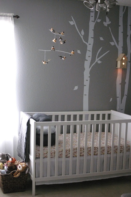 I love everything about this nursery! A Woodland Themed Nursery For A Baby Girl | Climb On, Sister!