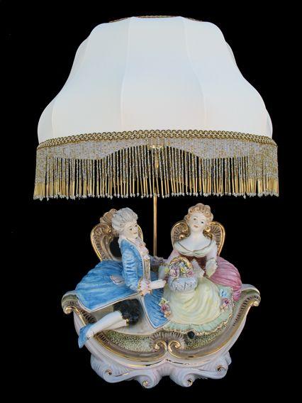 Capodimonte Figurine Lamp Porc Dame L 225 Mpa Pinterest