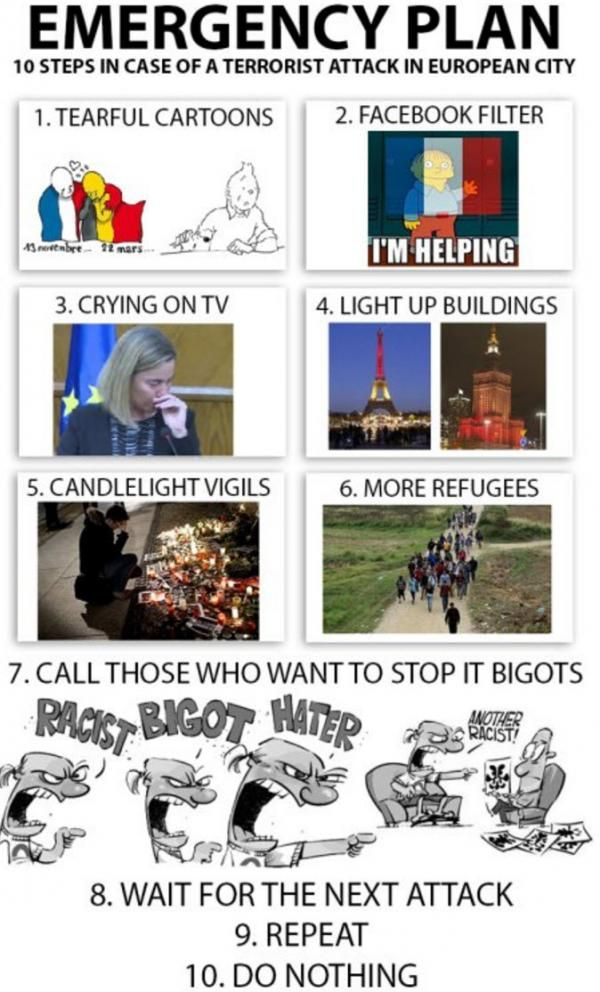 10-Step Emergency Response Plan In Case Of European Terrorist Attack Too soon?  Source: The Burning Platform blog