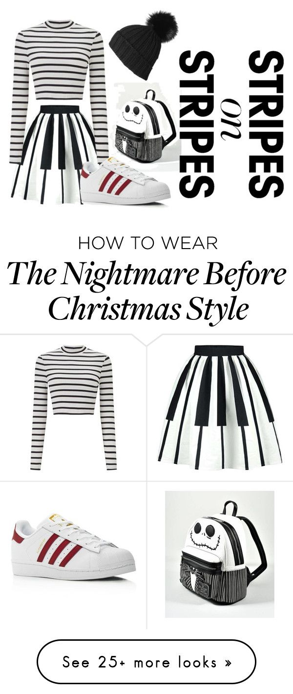 """""""Special Striped Sweater"""" by shxxzx on Polyvore featuring Loungefly, Black, Miss Selfridge, adidas, stripesonstripes and PatternChallenge"""