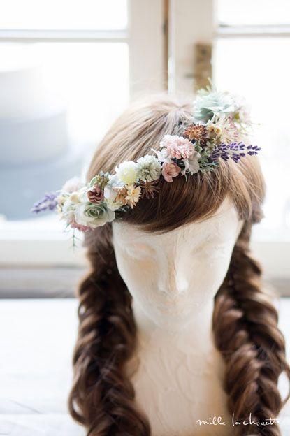 アンティークシャビーナチュラル花冠