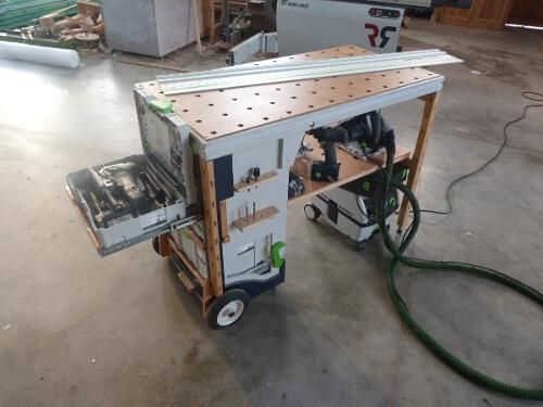 Portable Workshop   MF TC Multifuntion Tool Cart The MF TC Is A Homemade  Tool Cart, In My Workshop I Have My Sysport Workbench And For Small Job  Site Work I ...