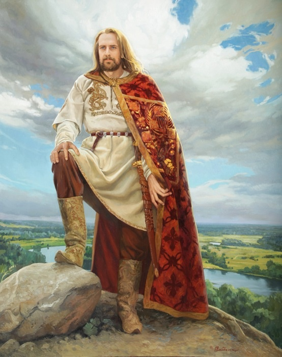 "Yaroslav I, Grand Prince of Russia,""Yaroslav the Wise"", was the son of Grand Prince Vladimir the Great.Yaroslav became the Grand Prince of Kiev in 1019. Under Yaroslav the codification of legal customs and princely enactments was begun, and this work served as the basis for a law code called the Russian Truth.During his lengthy reign, Russia reached the zenith of its power. **28th GGF**"