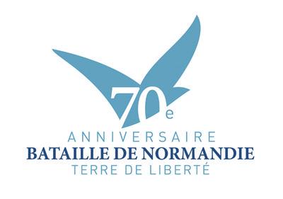 D-Day, le débarquement il y a 70 ans déjà - article photogeniques.fr [logo du 70e anniversaire du débarquement et de la bataille de Normandie]