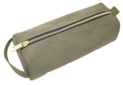 Rough Enough Highly Heavy Canvas Military Classic Small Tool Pencil Case Pouch (Army Green)