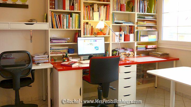 espace bureau et matériel scrapbooking dans piece atelier