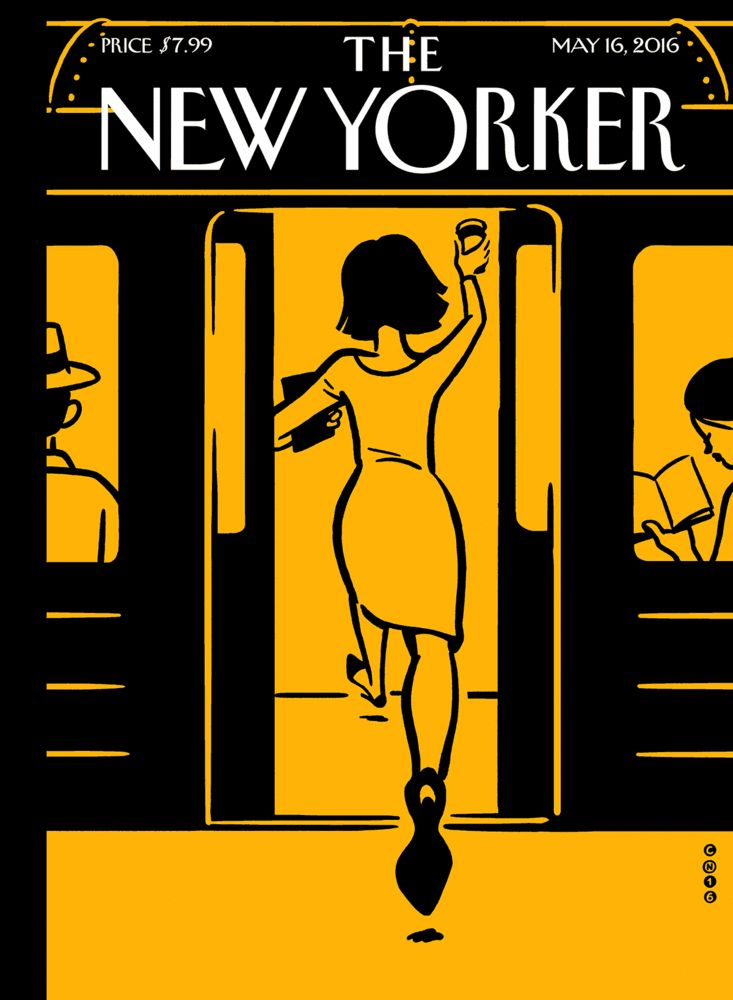 New Yorker cover using augmented reality by Christophe Niemann and Nexus