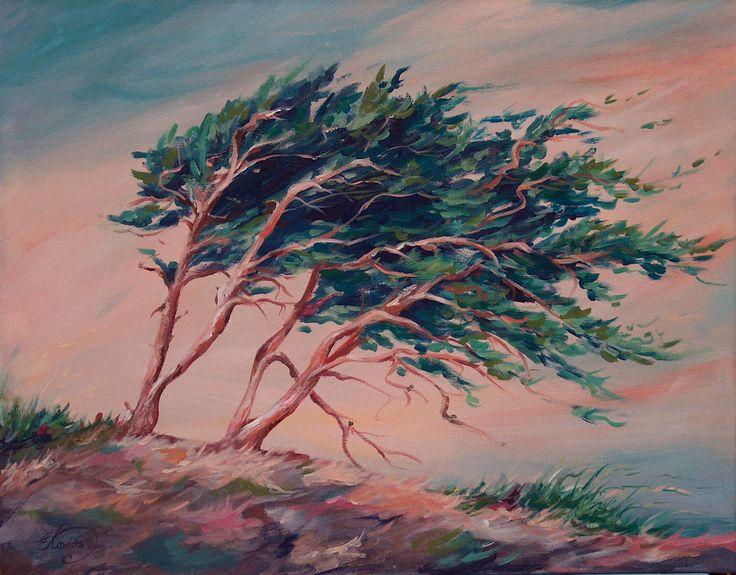 """""""Odi ston Anemo"""", acrylic on canvas, 30x40cm exibition: Zakynthos, """"bouties sta chromata"""", 2011"""