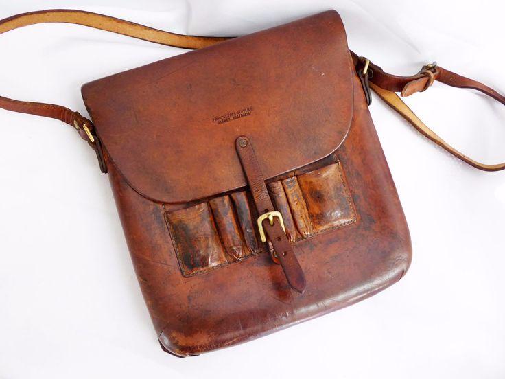 Antique vegetable tanned Prospectors satchel