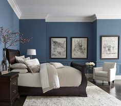 pretty blue color with white crown molding                                                                                                                                                                                 More
