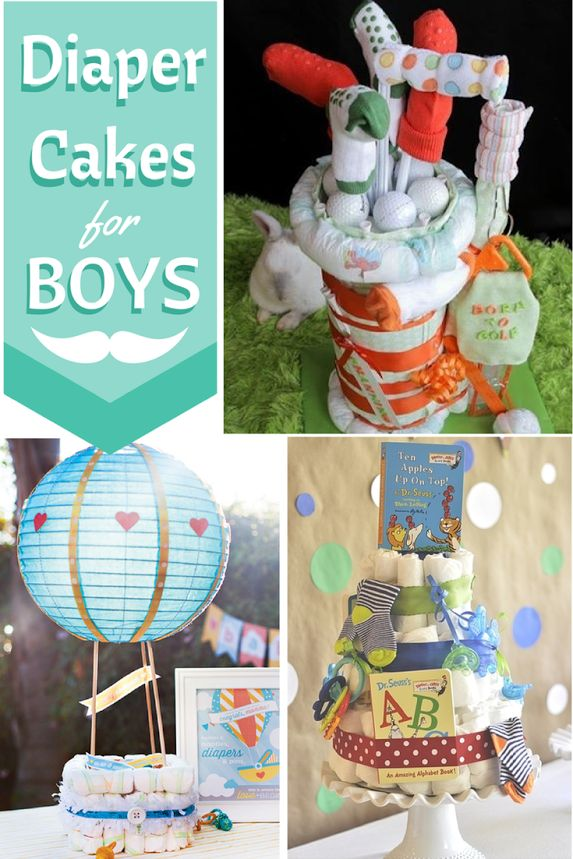 Cute Diaper Cakes for Boys