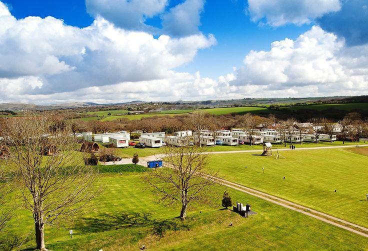 Aerial view Meadow Lakes static caravans