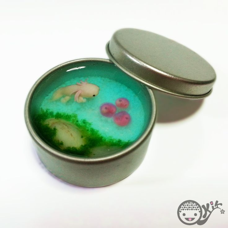 Glow in the dark Axolotl pond by kkkiiikkk.deviantart.com on @DeviantArt