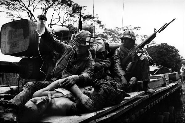Quang Tin Province....  M-48A3 carrying wounded Marines, photo taken August 11th, 1966