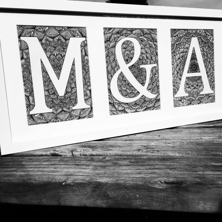 M & A for sale £40 on my website & depop @kristymudares_art Frame included 50x23cm #frames #white #whiteframe #blackandwhitedecor #monocrome #interior #interiorstyling #homeaccessories #homedecor