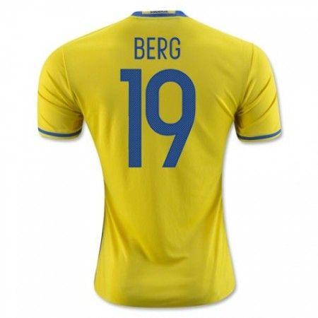 Sweden 2016 Berg 19 Hjemmedraktsett Kortermet.  http://www.fotballteam.com/sweden-2016-berg-19-hjemmedraktsett-kortermet.  #fotballdrakter