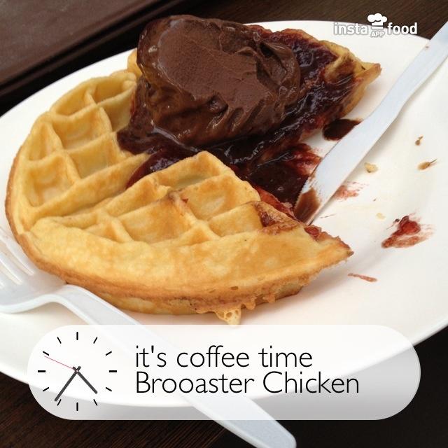 #waffle lumayan walau masih kalah dg AW, tempat nyaman, service agak lama #instafood #instafoodapp #instagood #food #foodporn #photooftheday #picoftheday #instadaily #indonesia  #brooasterchicken #food #foodporn #restaurant #day