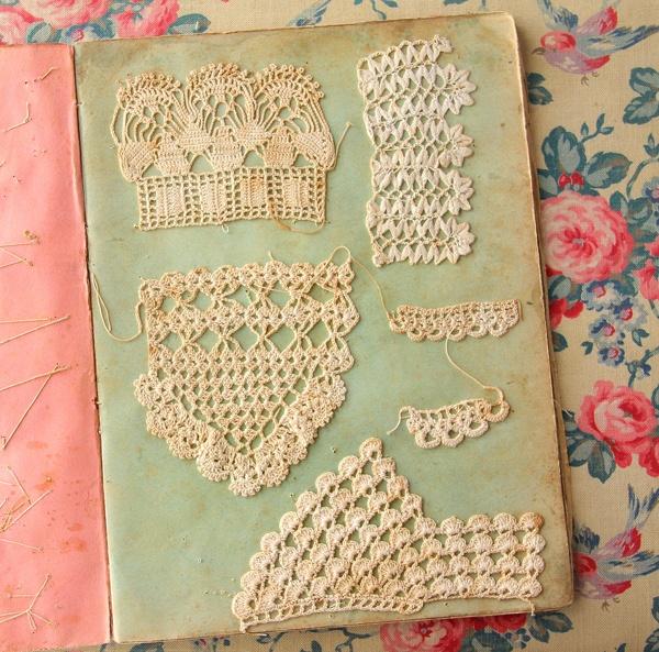 Antique lace sampler book