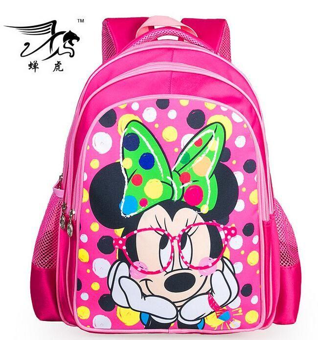 New Minnie Mouse Printing Children School Bag Cartoon Kids Backpack Shoulder Kindergarten Schoolbag