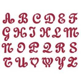 stencil alfabeto maiuscolo
