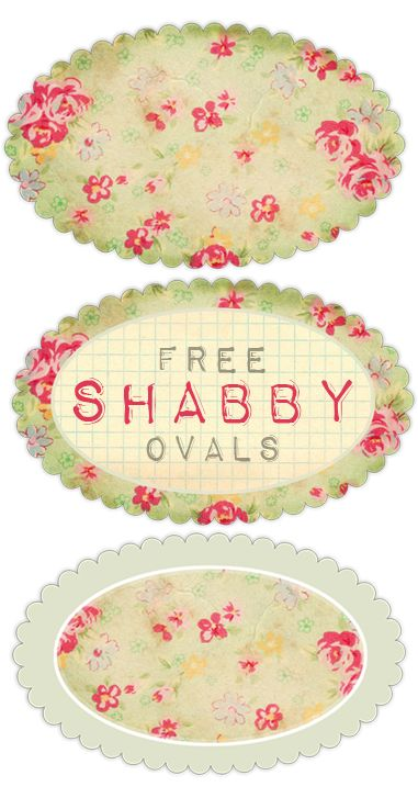 Shabby Blogs: Vintage Freebie with Keren: Pretty Printable Shabby Ovals