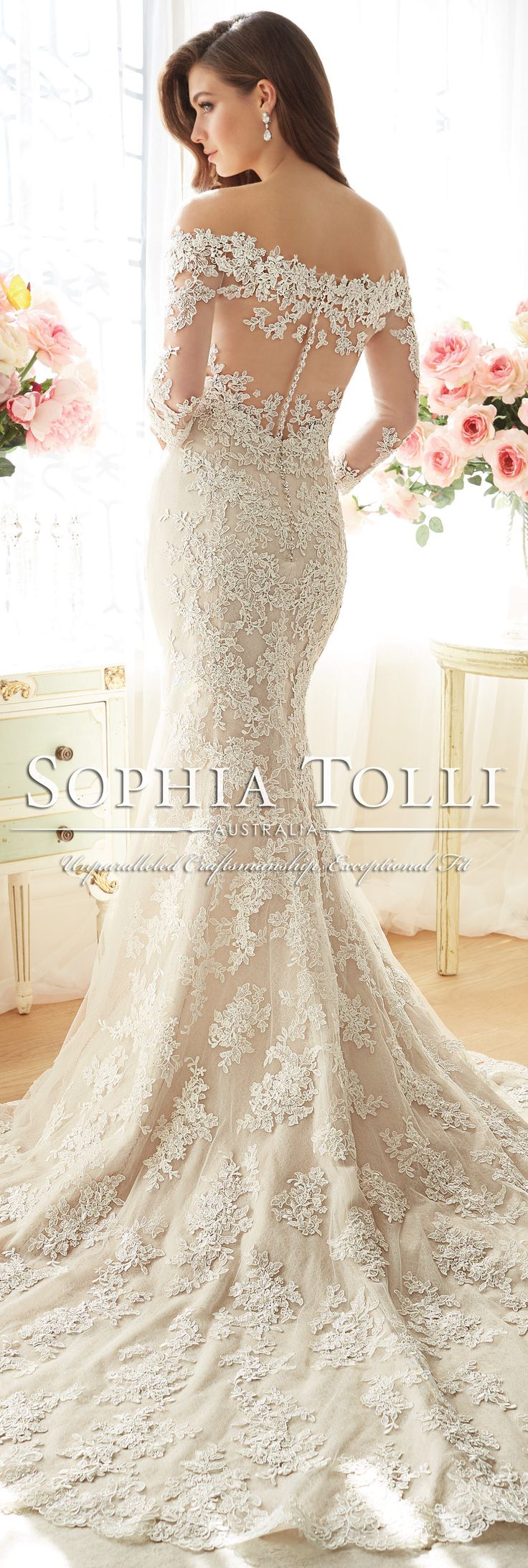 The Sophia Tolli Spring 2016 Wedding Dress Collection - Style No. Y11632 - Riona #laceweddingdress